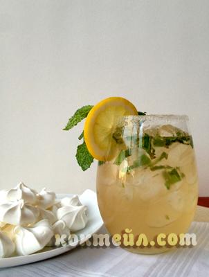 коктейл Водка лимон мента